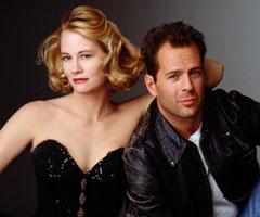 Cybill Shepherd and Bruce Willis star in Moonlighting.